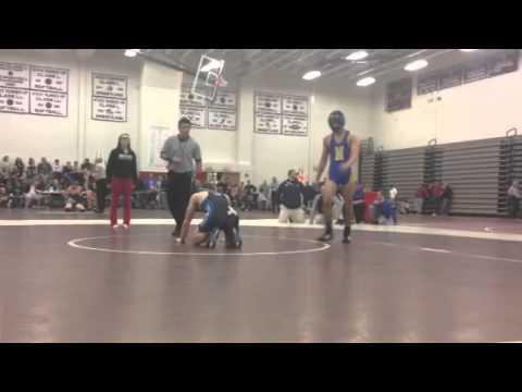 138lbs Zac Thompson (BE) vs Brian Goncalves (Newington)