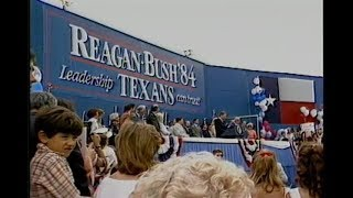 President Reagan's Campaign Trip to Austin, Texas on July 25, 1984