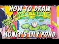 How to Draw an Impressionist Landscape of Claude Monet's Lily Pond and Bridge Using Crayons!