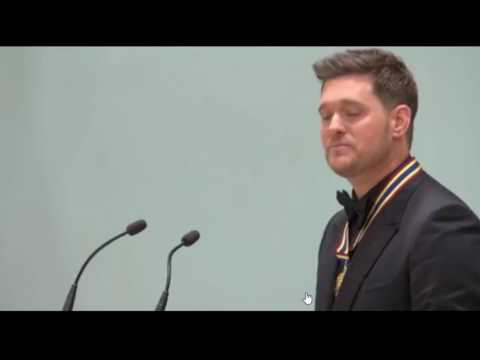 Michael Buble' receives an award in Canada - Myrtle Beach SC Online News