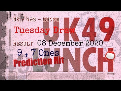 UK49s LUNCH | Math teacher HIT9.7ones tell you How to win Dec 09 and result on Dec 08