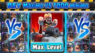 REY Máximo VS Todo mínimo | Clash Royale | Kamikaze