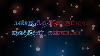 Kannukulle Unnai vaithen Kannamma. Tamil lyrics song
