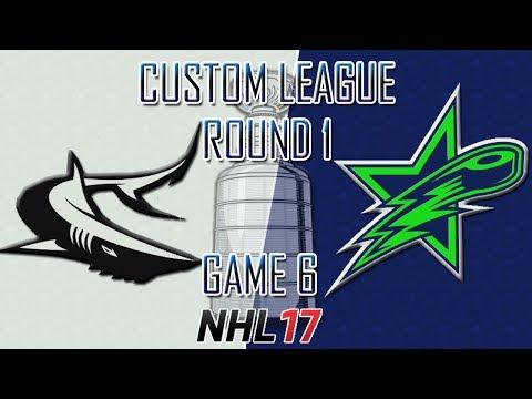 NHL 17 - Custom League - Seattle @ Victoria Round 1 Game 6