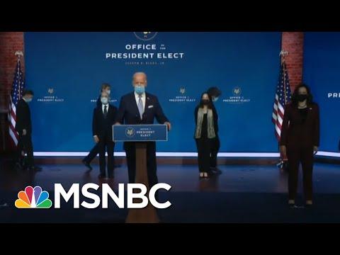 Robert Gibbs Talks Biden Cabinet: They Underscored 'Truth Telling,' 'Science'   Katy Tur   MSNBC