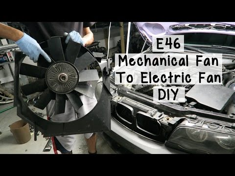 BMW E46 Mechanical Fan To Electric Fan DIY