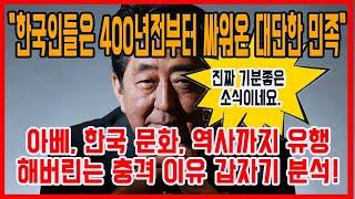 아베, 한국 문화, 역사까지 유행해버린는 충격 이유 갑…