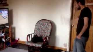 Funny cat video. Cat watches wii remote
