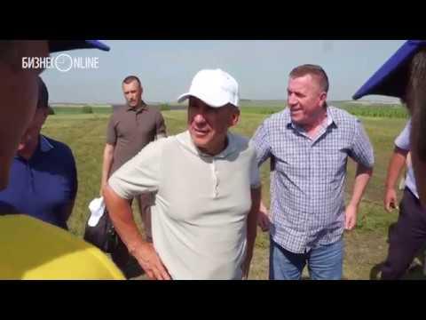 Минниханов пожелал хлеборобам Тетюшского района хорошей погоды и успешной уборки урожая