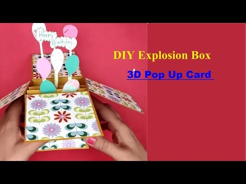 DIY Teacher's day card / How to make Greeting card for Teacher's day/DIY Explosion box for scrapbook