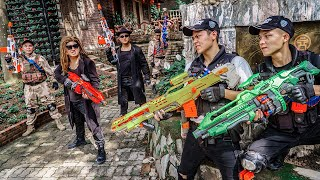 LTT Game Nerf War : Patrol Police Warriors SEAL X Nerf Guns Fight Rocket Crazy Dangerous Criminals