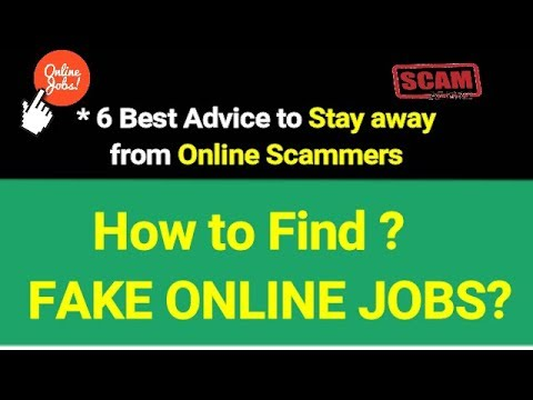 how to find fake and genuine online jobs?