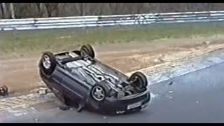 Nordschleife Touristenfahrten Rollover Fiesta, too fast drivers 18.04.1999