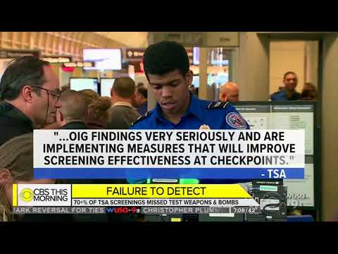 Undercover Investigation: 70 Percent of TSA Screenings Missed Test Weapons and Bombs