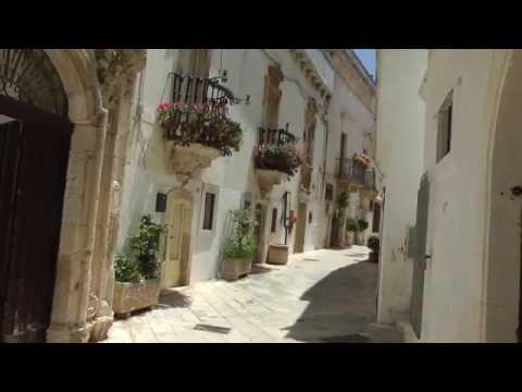 Locorotondo white town in Puglia Italy