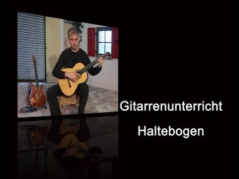Gitarrenunterricht - Haltebogen