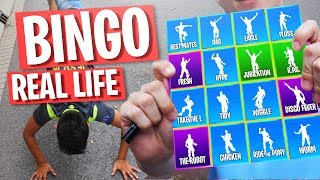 FORTNITE BINGO in REAL LIFE met JUR!