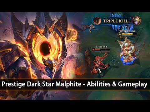 Prestige Dark Star Malphite - Abilities & Gameplay (League Of Legends)