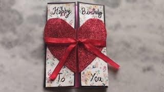 A Beautiful Birthday card idea for BOYFRIEND | complete tutorial