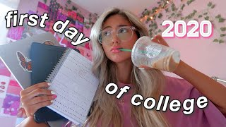 the first day of (online) college vlog *very realistic*  2020