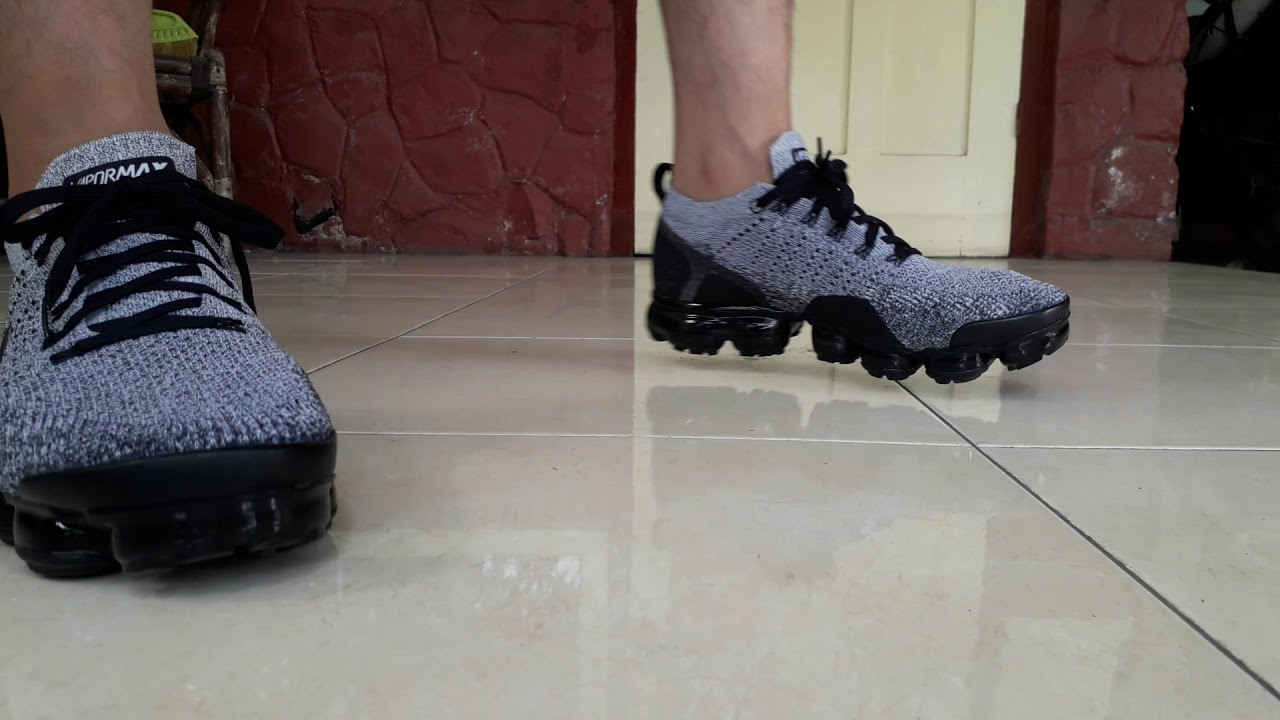 new style 18237 4ee2b Nike Air Vapormax Flyknit 2 in Oreo White/Black/Black Color Indonesia