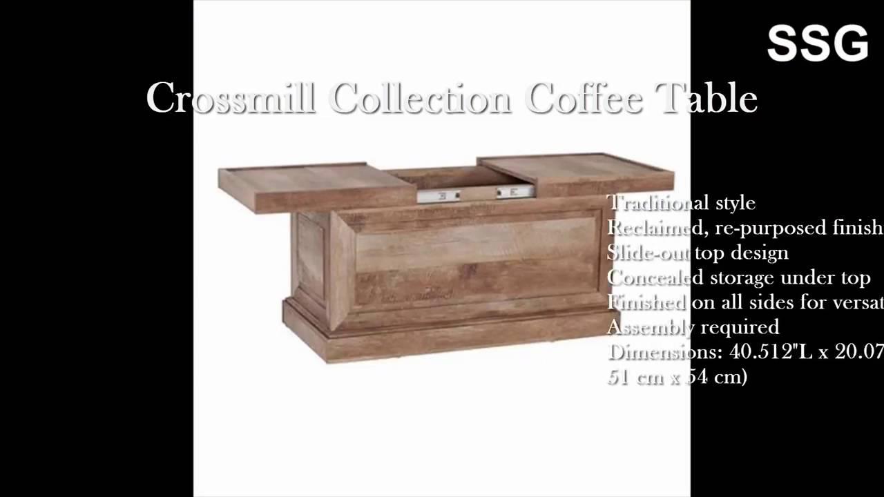 Coffee Table Slide Top Hidden Storage