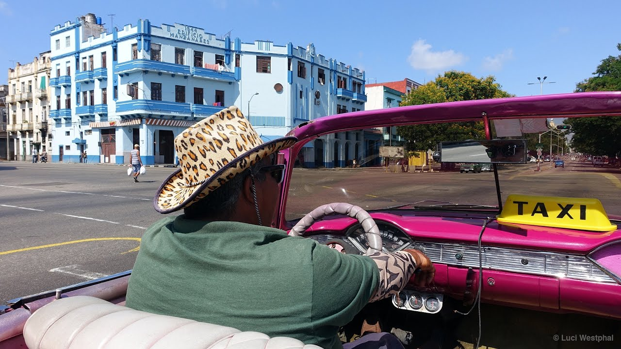 Havana Classic Car Taxi Ride (Cuba) - In Another Minute (360) - YouTube