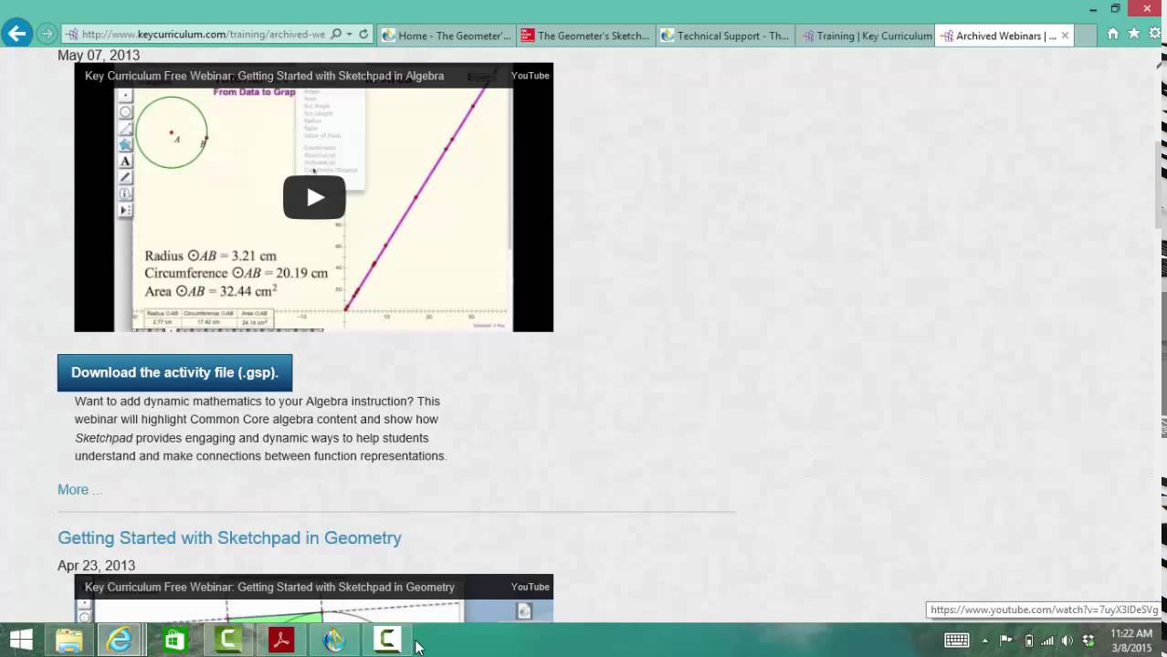 Geometer's Sketchpad Review