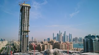 Watch The Palm Tower come to life in Palm Jumeirah