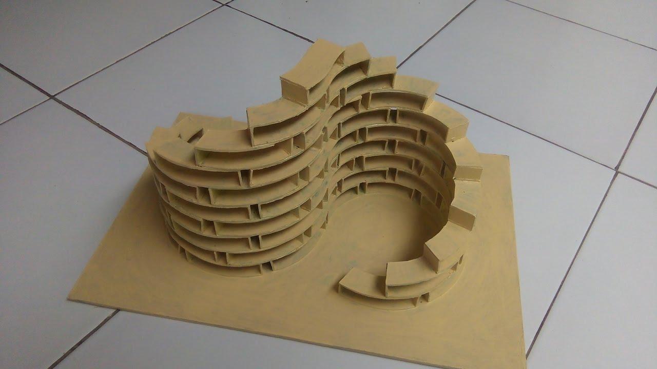 Nirmana 3D Struktur Bangunan dari Kertas Duplek | Building ...