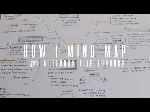 how i mind map + notebook flip through