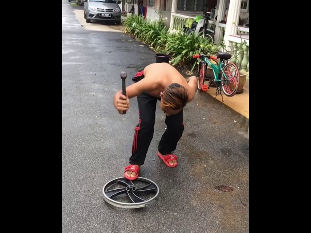 Kroni basikal buang rim