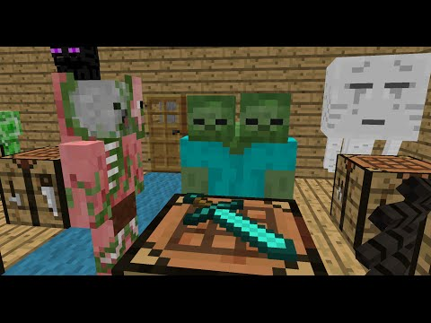 Monster School: Crafting - Minecraft Animation