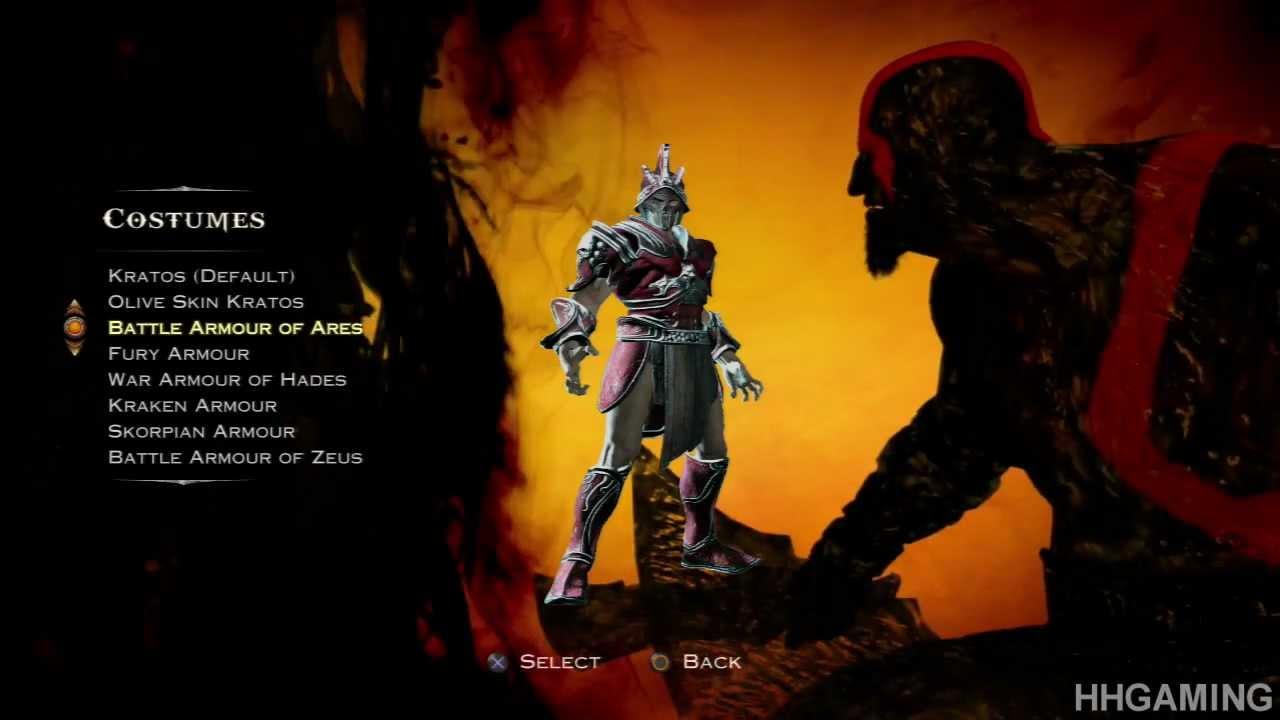 God Of War Ascension All Costumes Kratos Dressed Up God Of War