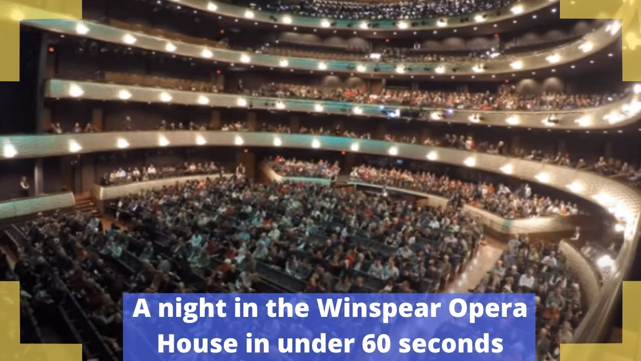 A night in the winspear opera house in under 60 seconds youtube
