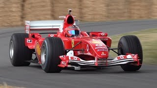 Michael Schumacher F1 Parade at Goodwood FOS 2019! - Ferrari F2004, Benetton B194 & More!