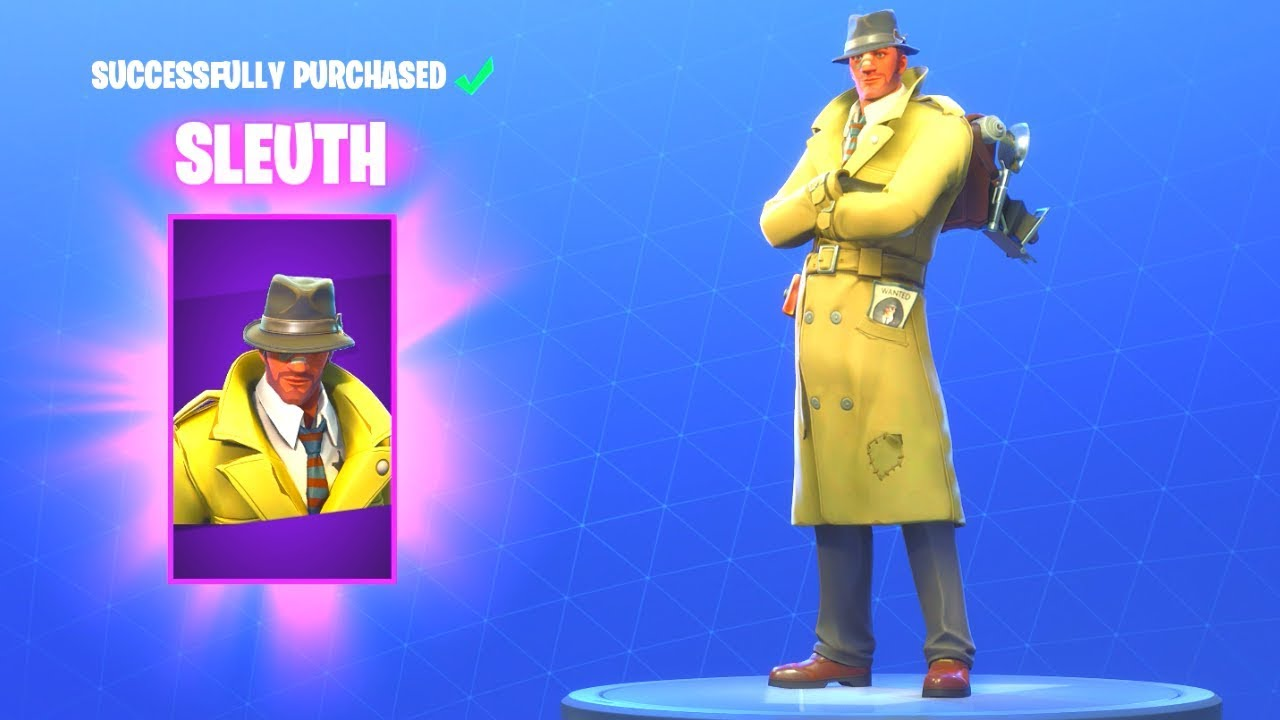 Detective Outfit Fortnite New Detective Skins Fortnite Battle Royale Youtube