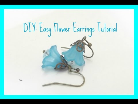 DIY: Easy Flower Earrings Tutorial