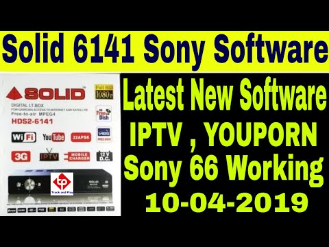 10-4-2019,Solid 6141 Latest Software 2019,66 Sony package,iptv  working,Solid 6141 sony software 2019