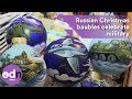 Russian Christmas baubles celebrate military