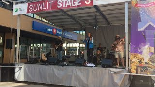 "Singing ""Sweet Talk"" at the Regina Folk Festival"