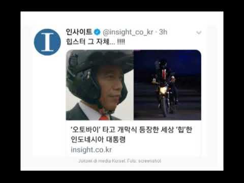 MEDIA AMERIKA DAN KOREA KAGET JOKOWI NAIK MOTOR OPENING ASIAN GAMES 2018