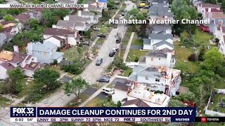 Naperville neighbors continue to clean up tornado damages