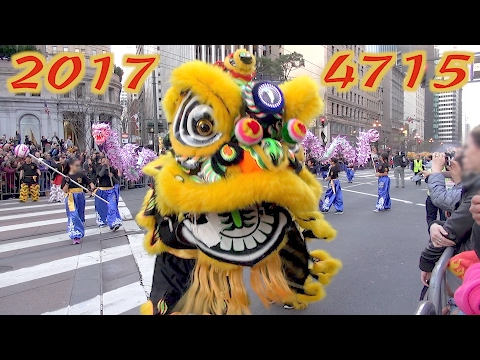 Chinese New Year Parade 2017 San Francisco highlights compilation