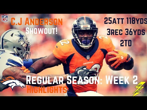 C.J Anderson Week 2 Regular Season Highlights Show out | 9/17/2017