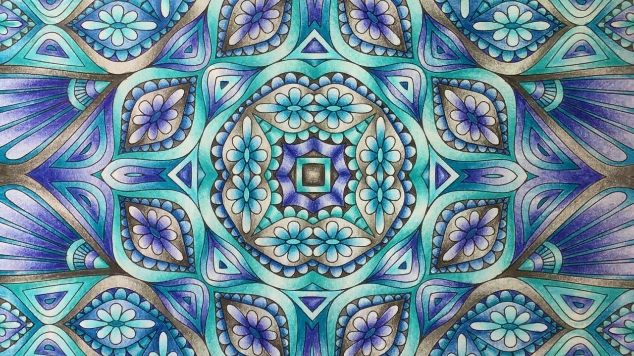 Kaleidoscope Mandala Design Color Like Crazy Faber