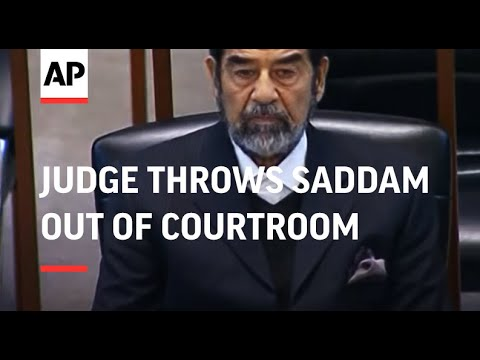 WRAP Chief judge throws Saddam out of courtroom