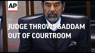 WRAP Chief judge throws Saddam out of courtroom thumbnail