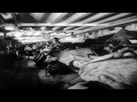 HD Stock Footage WWII London Opens Air Raid Shelters - German Buzz Bombers