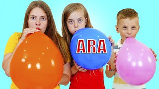 Ulya ومتعة اللعب مع البالونات